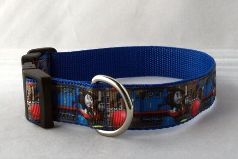 Thomas Tank Handmade Dog Collar