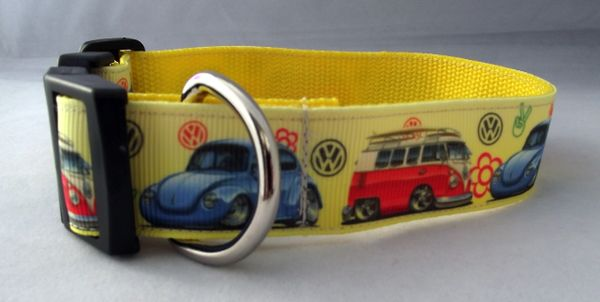 Camper Van and Beetle Dog Collar Handmade