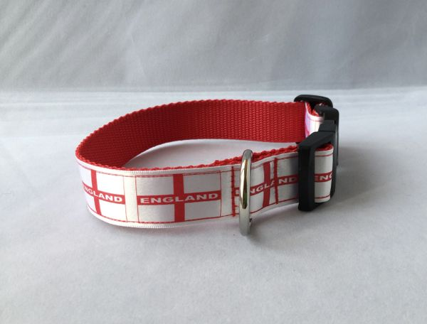 England Flag Handmade Dog Collar
