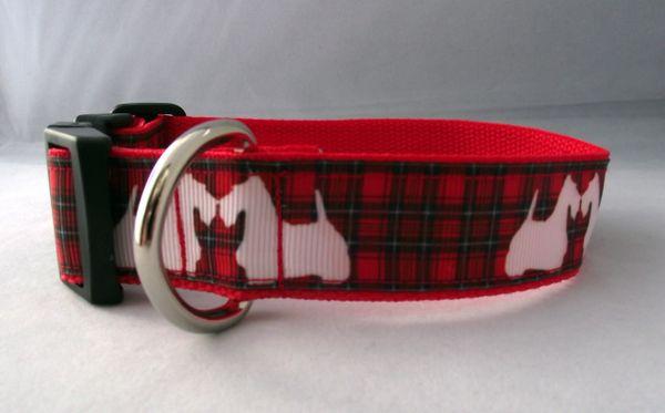 Scottie Dog Dog Collar Handmade