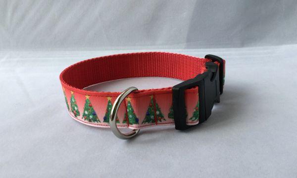 Decorated Christmas Tree Handmade Dog Collar