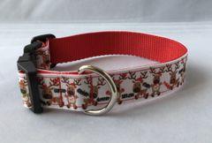 Santas Reindeer Handmade Dog Collar