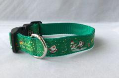 Merry Christmas Handmade Dog Collar