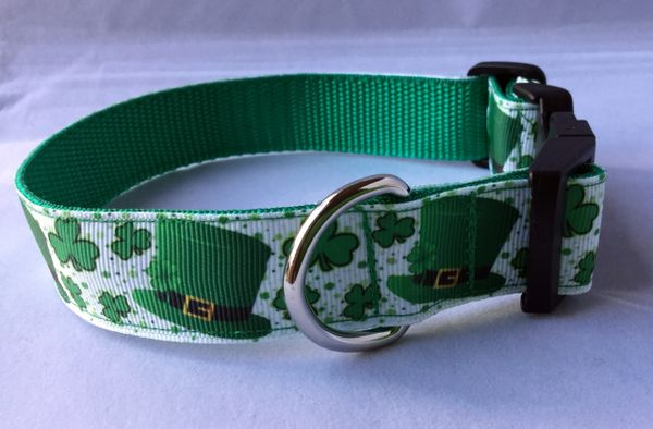 St Patrick's Day Handmade Dog Collar