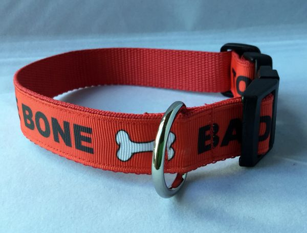 Bad To The Bone Handmade Dog Collar