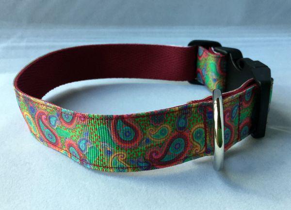 Paisley Print Handmade Dog Collar