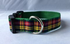 Buchanan Tartan Handmade Dog Collar Plaid