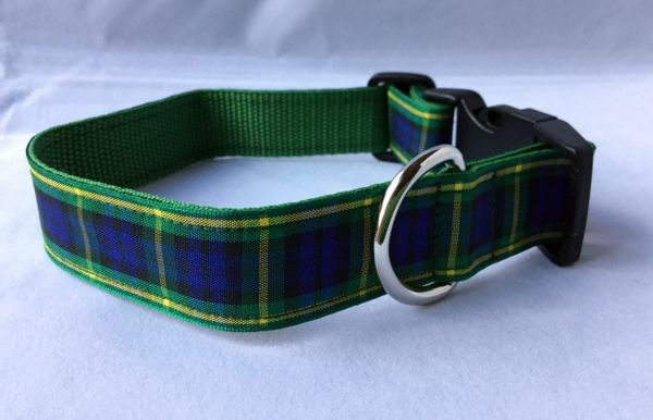 Gordon Tartan Handmade Dog Collar Plaid