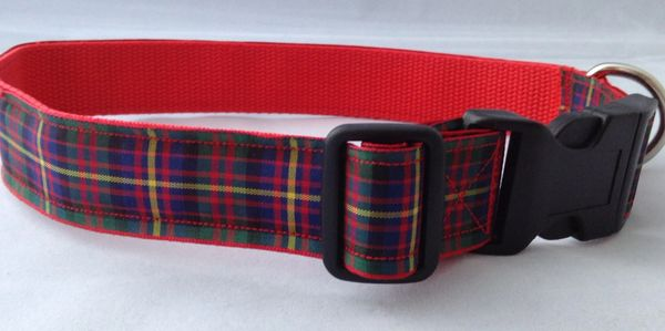 Cameron of Erracht Tartan Dog Collar Handmade Plaid