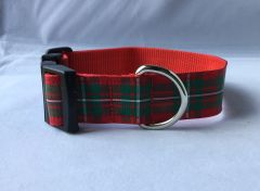 MacGregor Tartan Handmade Dog Collar Plaid