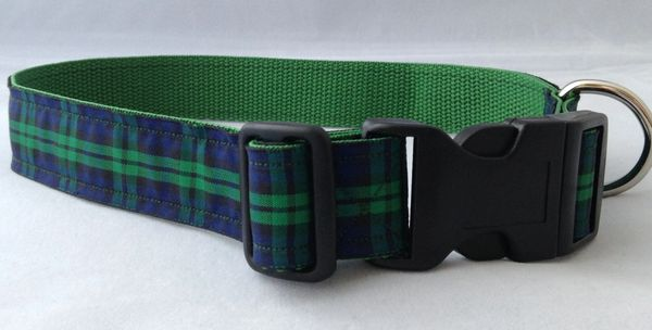 Black Watch Tartan Handmade Dog Collar Plaid