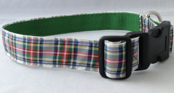 Dress Stewart Tartan Handmade Dog Collar Plaid