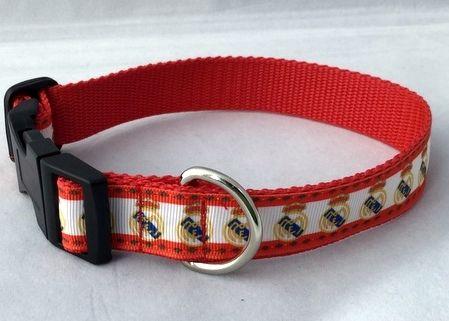 Real Madrid FC Dog Collar Handmade