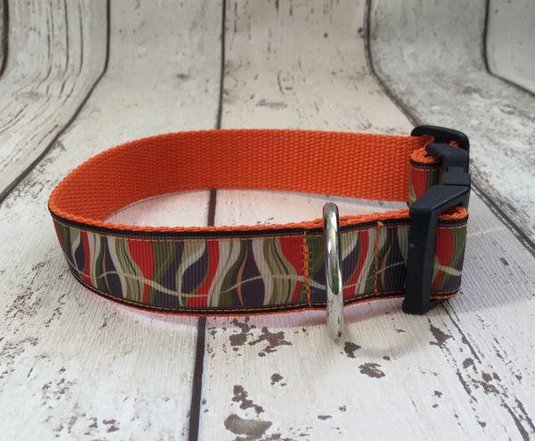 Retro Style Waves Handmade Dog Collar