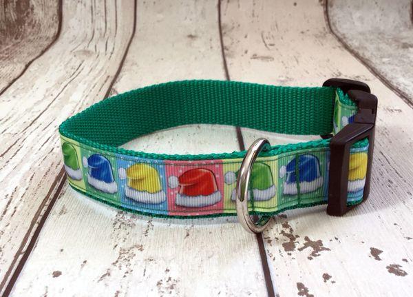 Christmas Santa Hat Handmade Dog Collar