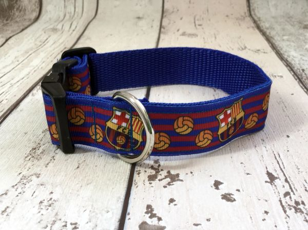 Barcelona FC Handmade Dog Collar