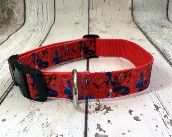 Spiderman Handmade Dog Collar