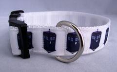 Handmade Tardis Dog Collar