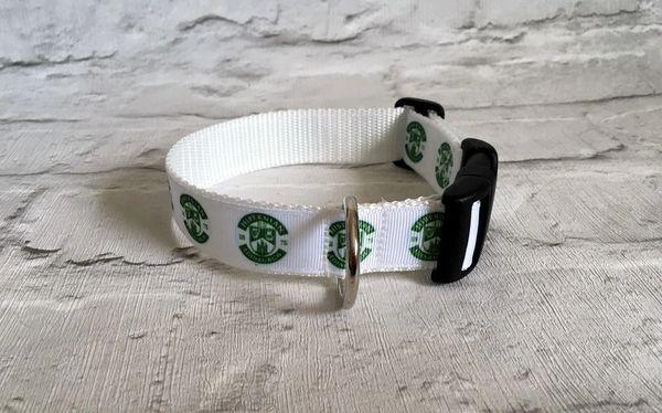 Hibernian FC Handmade Dog Collar
