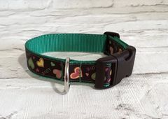 Love and Hearts Valentines Handmade Dog Collar