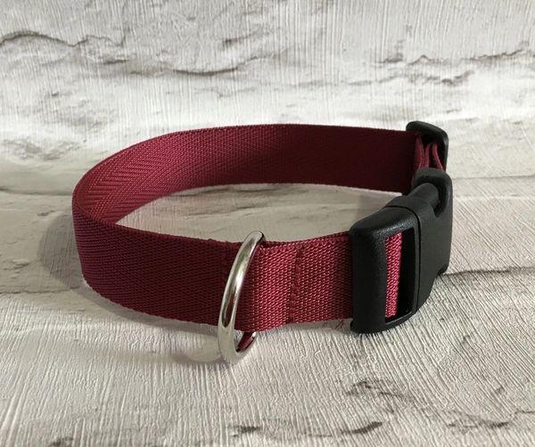 Plain webbing Handmade Dog Collar