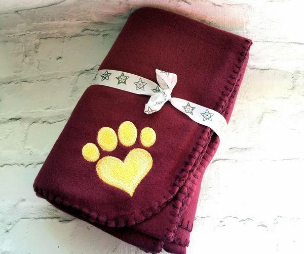 Personalised Dog Blanket Wine
