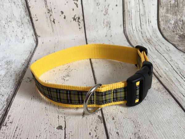 Cornish National Tartan Handmade Dog Collar Plaid