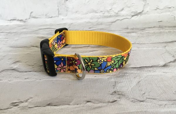 Funky Flower Design Handmade Dog Collar