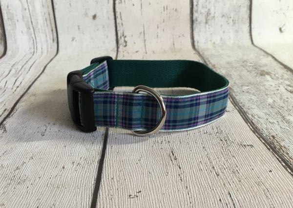 Western Isles Tartan Dog Collar Handmade Plaid