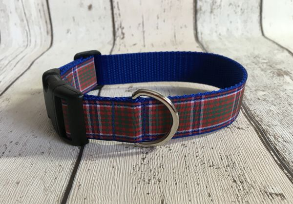 MacRae Tartan Dog Collar Handmade Plaid
