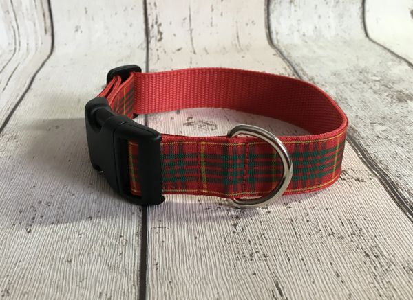 Cameron Tartan Dog Collar Handmade Plaid
