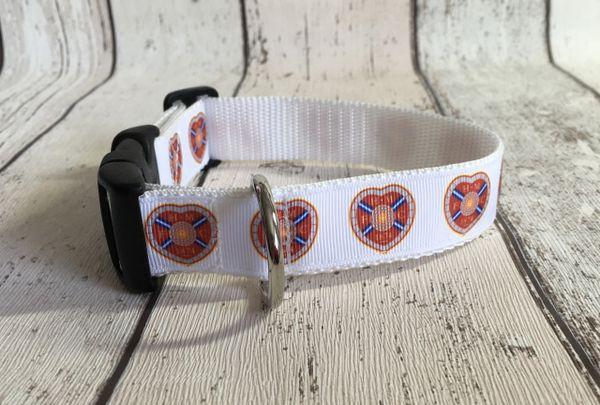 Hearts F C Handmade Dog Collar