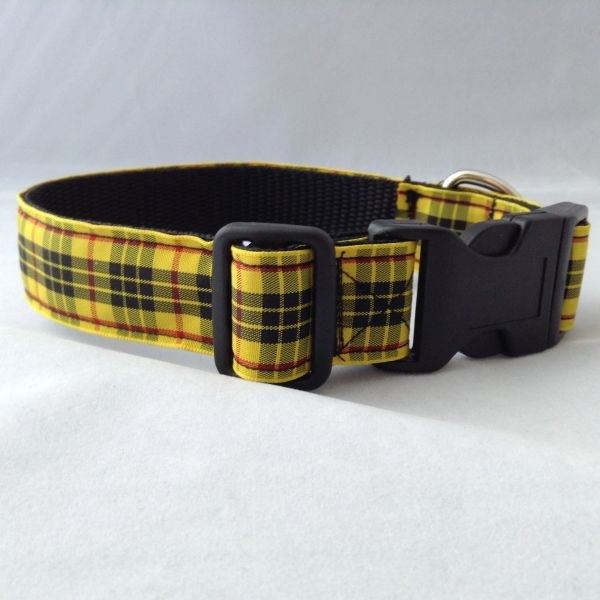 MacLeod Of Lewis Tartan Dog Collar Handmade Plaid