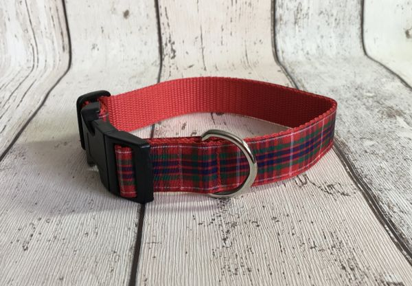 Fraser Tartan Dog Collar Handmade Plaid Outlander