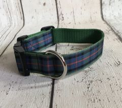Flower Of Scotland Tartan Dog Collar Handmade Plaid