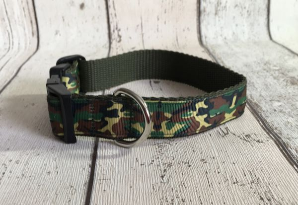 Camouflage Dog Collar Handmade