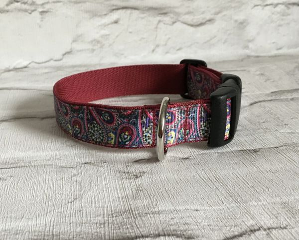Paisley Pattern Style 2 Handmade Dog Collar