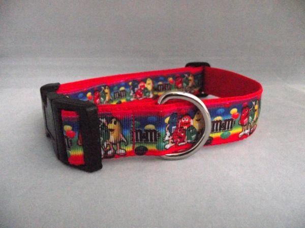 Handmade M & Ms Dog Collar