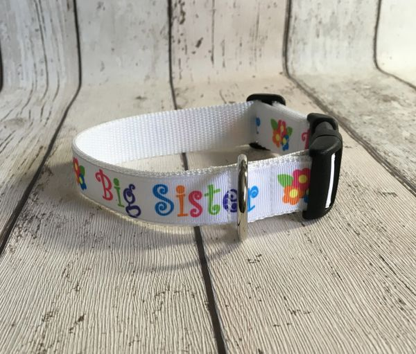 Big Sister Handmade Dog Collar