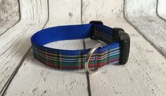 MacBeth Tartan Handmade Dog Collar Plaid