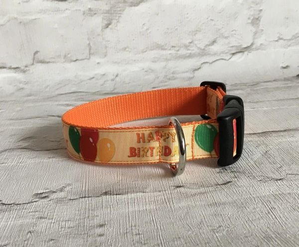 Happy Birthday Style 2 Handmade Dog Collar