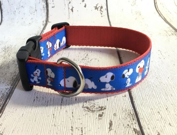 Snoopy Figure Handmade Dog Collar