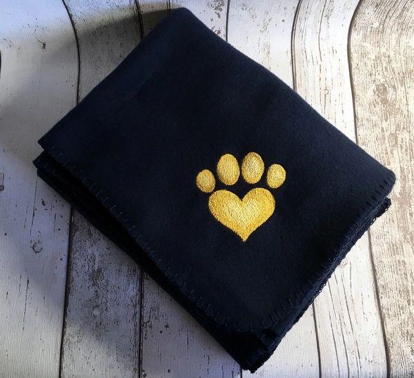 Personalised Dog Blanket Navy