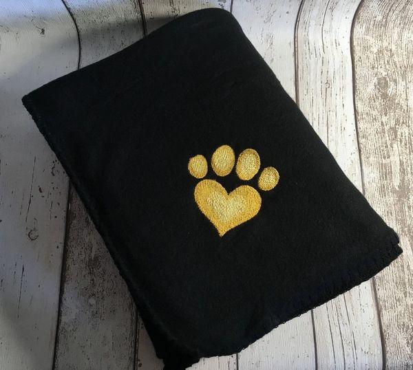 Personalised Dog Blanket Black