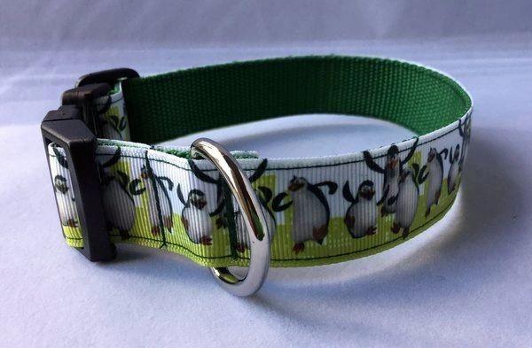 Penguins Dancing Handmade Dog Collar