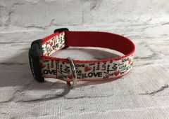 Handmade Love Valentine Dog Collar
