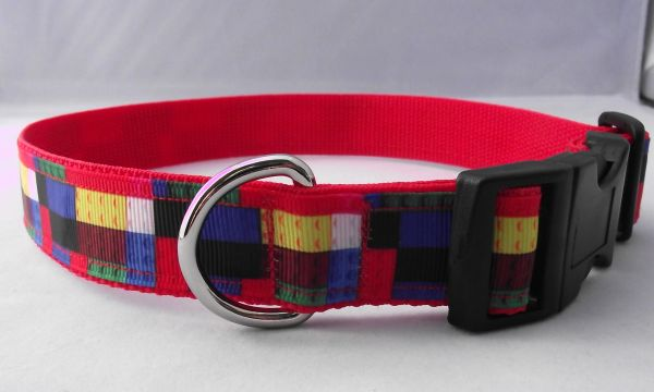 Handmade Colour Bricks Dog Collar