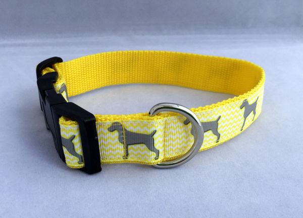 Handmade Dog Collar Silhouette of Dog