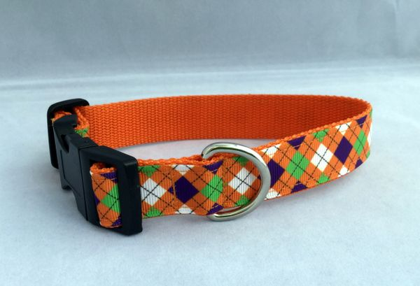 Handmade Diamond Pattern Dog Collar