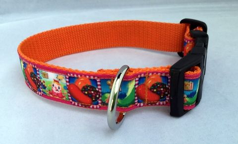Candy Crush Dog Collar Handmade